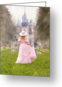Fairy Photo Greeting Cards - Princess And Her Castle Greeting Card by Joana Kruse