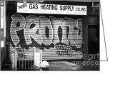 Nyc Graffiti Greeting Cards - Pronto 1990s Greeting Card by John Rizzuto
