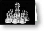 Chessman Greeting Cards - Protected Greeting Card by Arisha Singh