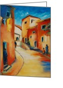 South France Greeting Cards - Provencal Street Greeting Card by Elise Palmigiani