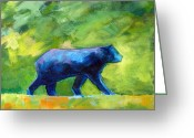 Prowling Greeting Cards - Prowling Greeting Card by Nancy Merkle