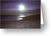 Beach Prints Greeting Cards - Purple Hues Greeting Card by Lisa Eryn
