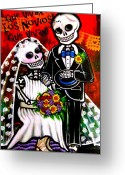 Boda Greeting Cards - Que Vivan los Novios Que Vivan  by Karina Gomez Greeting Card by Laura and Karina Gomez