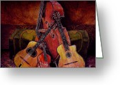 Instruments Mixed Media Greeting Cards - Quintet Greeting Card by Sol Robbins