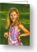 Innocent Greeting Cards - Rachel with Cookie Greeting Card by Douglas Simonson