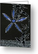 Gestures Greeting Cards - Radiant day n night flower  Greeting Card by Kenneth James