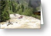 Most Greeting Cards - Rafting the Animas River Greeting Card by Jack Pumphrey