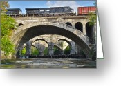 Robert Harmon Greeting Cards - Railroad Bridges Greeting Card by Robert Harmon