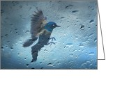 Birds Eye Greeting Cards - Rainy Day Greeting Card by Steven  Michael