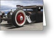 Hot Rod Greeting Cards - Rat Rod on Route 66 Greeting Card by Mike McGlothlen