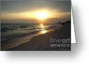 Panama City Beach Greeting Cards - Rays of Hope Greeting Card by Debra Forand
