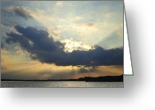 Terry Deluco Greeting Cards - Rays of Light Greeting Card by Terry DeLuco