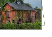 Connecticut Barns Greeting Cards - Relic Greeting Card by Bill  Wakeley
