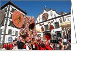 Gaspar Avila Greeting Cards - Religious festival in Azores Greeting Card by Gaspar Avila