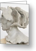 Science Fiction Sculpture Greeting Cards - Renaissance Man Side View Greeting Card by Ruth Edward Anderson