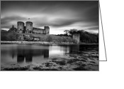 Design And Photography. Greeting Cards - Rhuddlan Castle Greeting Card by David Bowman