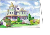 Reese Greeting Cards - Risley House of Stone Harbor Greeting Card by Brenda Dolhanczyk