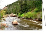 Colorado Mountain Greeting Cards Greeting Cards - Roaring River Greeting Card by Danny Key