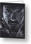 Tony Greeting Cards - Robert Downey Jr.  Greeting Card by Rosalinda Markle