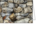 Granite Walls Greeting Cards - Rock wall  Greeting Card by Les Cunliffe