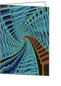 Vertigo Painting Greeting Cards - Roller Coaster Greeting Card by John Shipp