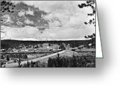 It Is As It Was Greeting Cards - Rollinsville Colorado Small Town 181 In Black and White Greeting Card by James Bo Insogna