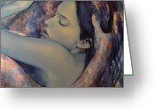 Emotions Greeting Cards - Romance with a Chimera Greeting Card by Dorina  Costras
