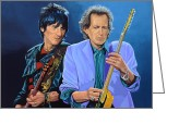 Sticky Fingers Greeting Cards - Ronnie Wood and Keith Richards Greeting Card by Paul Meijering