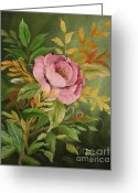 Jimmie Greeting Cards - Rose Greeting Card by Jimmie Bartlett
