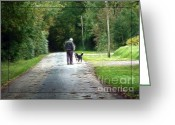 Country Lanes Photo Greeting Cards - Rosnalee Lane Stroll Greeting Card by Jean OKeeffe