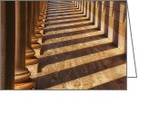 Pillar Greeting Cards - Row of pillars Greeting Card by Garry Gay