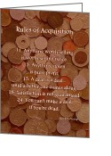 Capital Mixed Media Greeting Cards - Rules of Acquisition - Part 2 Greeting Card by Anastasiya Malakhova
