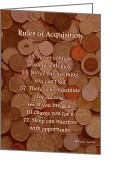 Capital Mixed Media Greeting Cards - Rules of Acquisition - Part 3 Greeting Card by Anastasiya Malakhova