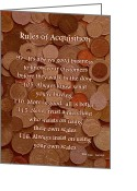 Capital Mixed Media Greeting Cards - Rules of Acquisition - Part 4 Greeting Card by Anastasiya Malakhova