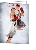 Game Greeting Cards - Ryu - Street Fighter Greeting Card by Ayse Toyran
