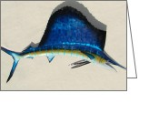 Fish Sculpture Greeting Cards - Sailfish Greeting Card by Diane Snider