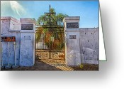 African Heritage Greeting Cards - Saint Louis Cemetery Number One Greeting Card by Sennie Pierson