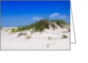 Sea Oats Greeting Cards - Sand Dune and Sea Oats Greeting Card by Louise Heusinkveld