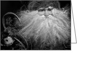 Christopher Holmes Greeting Cards - Santa Claus - BW Greeting Card by Christopher Holmes
