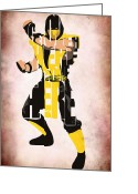 Original Drawing Greeting Cards - Scorpion - Mortal KOmbat Greeting Card by Ayse Toyran