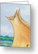 Lipton Greeting Cards - Sea Cat Greeting Card by Aprille Lipton