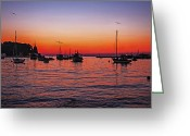Madeline Ellis Greeting Cards - Seascape Silhouette Greeting Card by Madeline Ellis