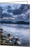 Kitsap Peninsula Greeting Cards - Seashells and Pebbles Greeting Card by Ryan Manuel