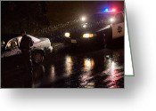 Cop Cars Greeting Cards - SFPD Night Duty Greeting Card by Daniel Furon