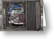 Broken Bus Digital Art Greeting Cards - Sharp Greeting Card by Ron Regalado
