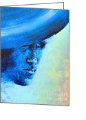 England Diana Greeting Cards - Shi Di Has The Blues poster Greeting Card by Alys Caviness-Gober