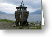 Panoramique Greeting Cards - Ship for Sale Greeting Card by Rachel Gagne