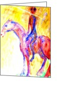 Tricks Greeting Cards - Silent Rider Greeting Card by Hilde Widerberg