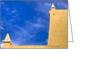 Stucco Walls Greeting Cards - Simple Architecture in Puebla Mexico Greeting Card by Mark E Tisdale