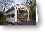 Bill Cannon Greeting Cards - Skippack Covered Bridge Greeting Card by Bill Cannon